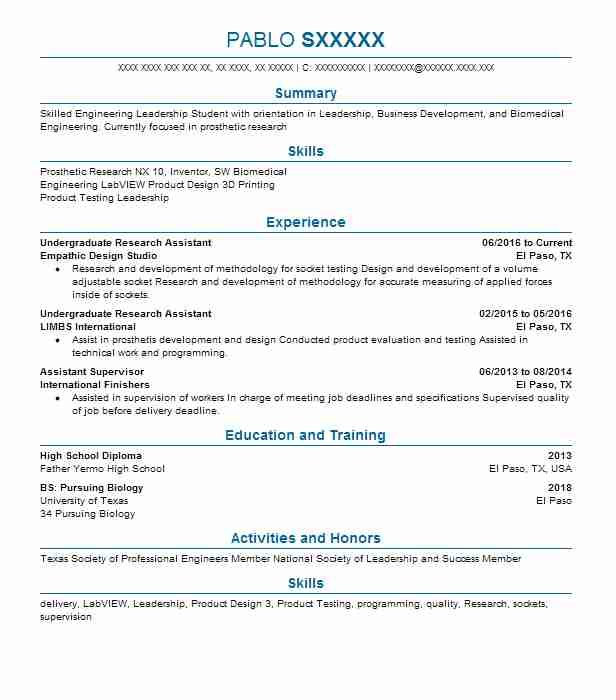 manufacturing engineering manager resume example ford motor