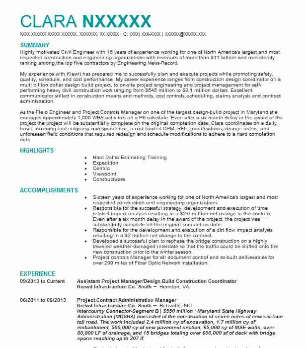 Ftth New Build Project Manager Resume Example Altice Usa