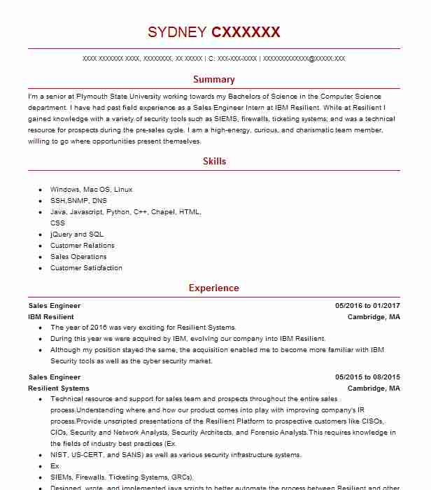 46 Computer Security Resume Examples in New Hampshire   LiveCareer