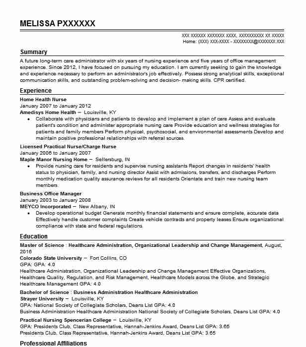 Sample Of Nursing Resume: Home Health Nurse Resume Sample