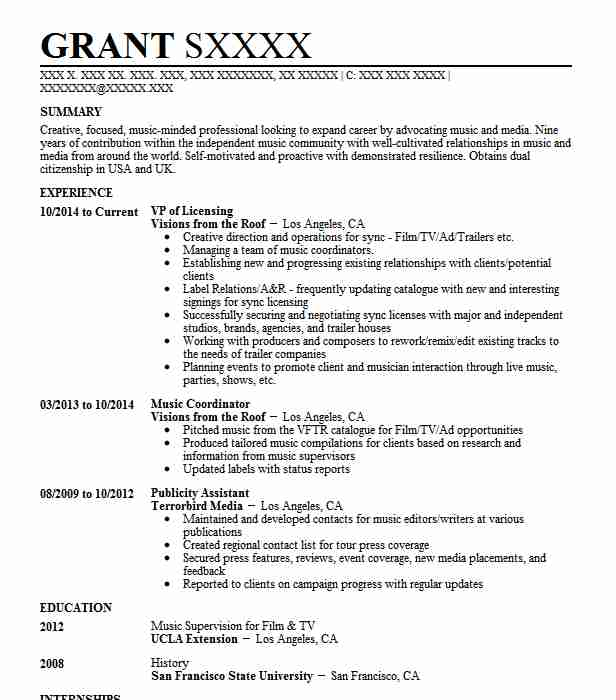 Nbcuniversal Resume Example (East Coast Page Program) - Millstone ...