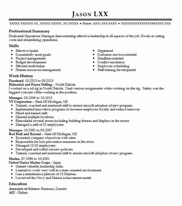 2 Store Management Resume Examples In Michigan LiveCareer