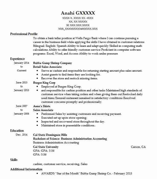 retail sales associate resume example ross dress for less