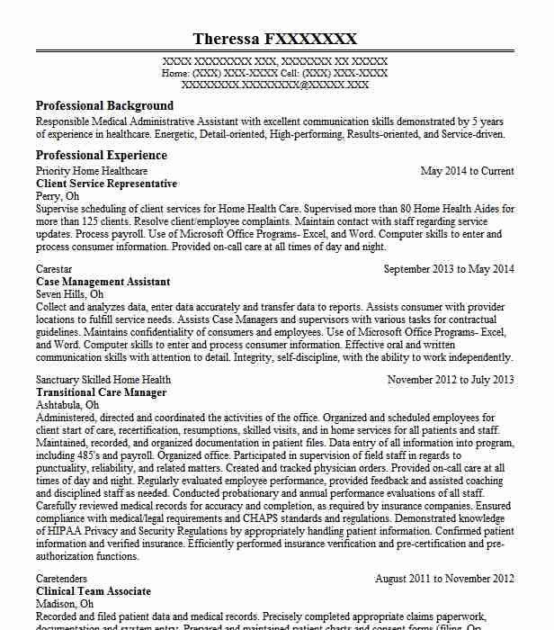Client Service Representative Resume Example Bank Of