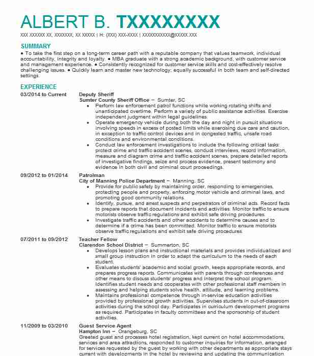 deputy sheriff resume example harris county sheriff u0026 39 s office