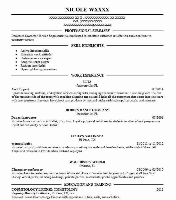 best arch expert resume example