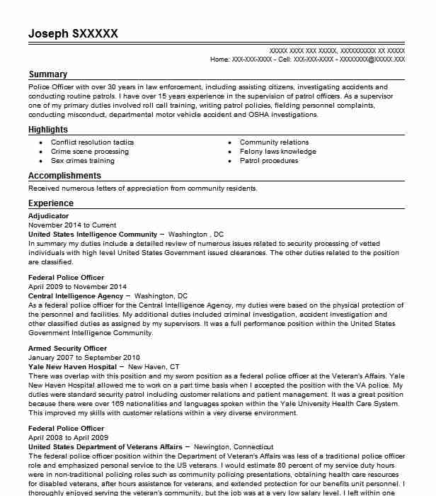 adjudicator resume sample