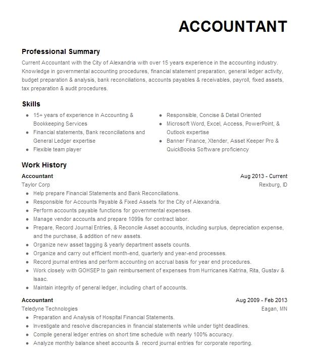 EyeGrabbing Accountant Resume