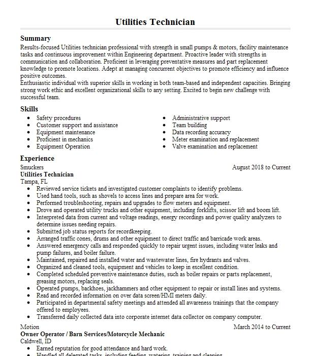 utilities supervisor   resume example city of raleigh