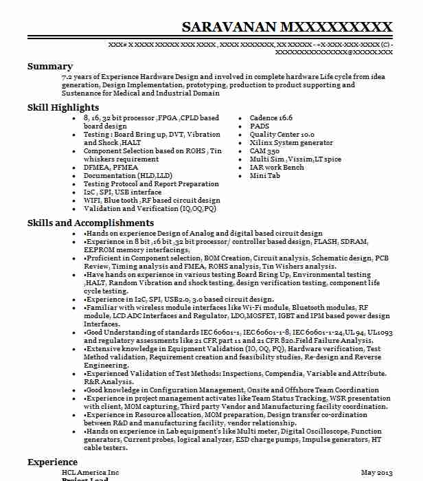 Project Lead Resume Example NI Labview - Farmington, Michigan