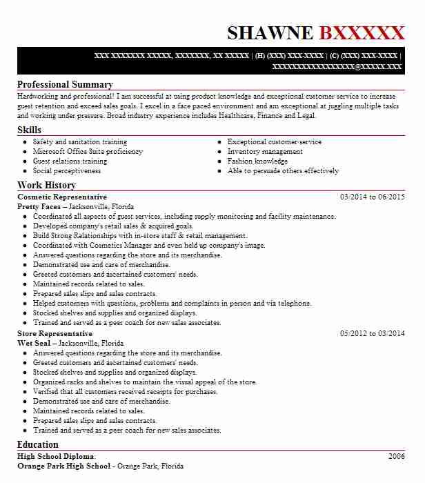 Fashion industry resume writing services