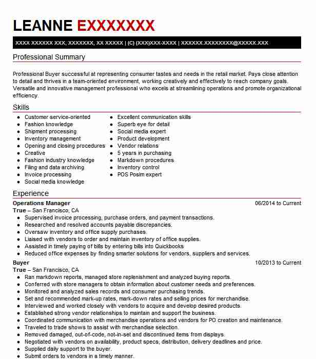 Top Fashion Resume  Fashion Industry Resume