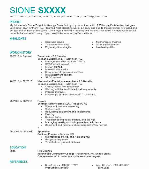 35 Renewable Energy Resume Examples in Kansas | LiveCareer