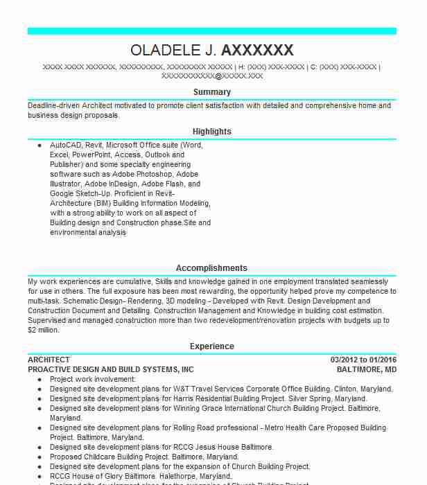 architect resume samples architect architect