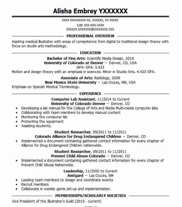 Computer Lab Assistant Resume Sample | Assistant Resumes | LiveCareer
