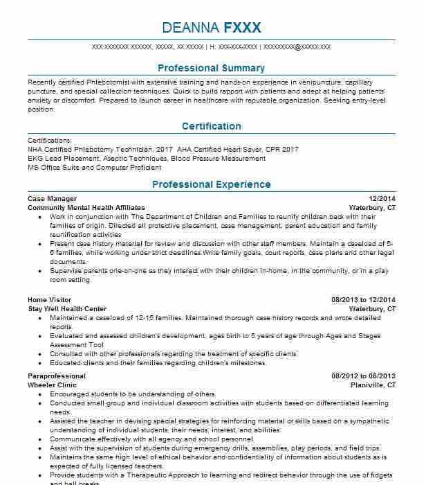 10120 mental health resume examples community and public service