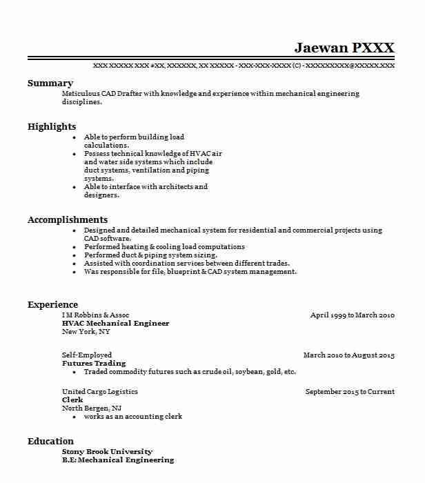Hvac Mechanical Engineer Resume Sample | LiveCareer