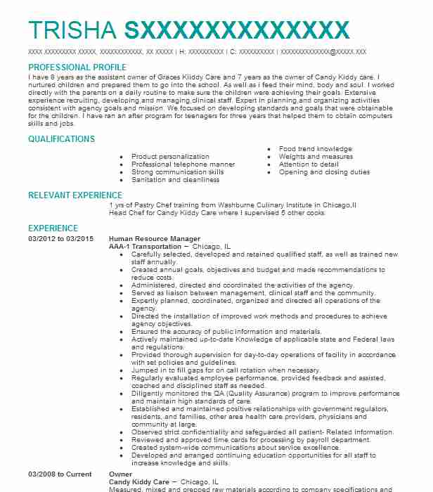 19069 Bakers Resume Examples