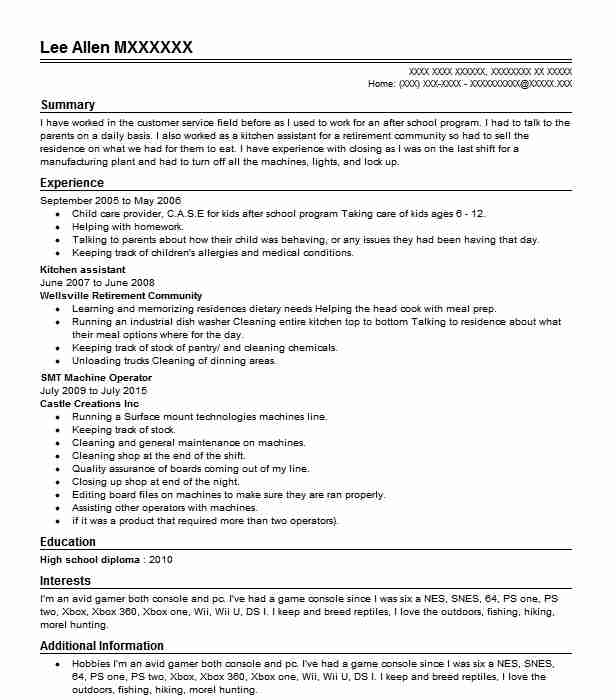 Kitchen Assistant Resume Sample Assistant Resumes Livecareer