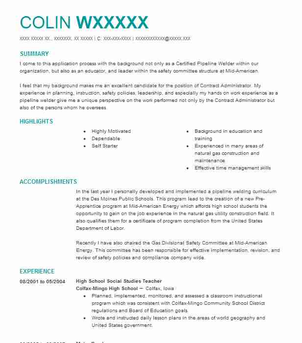 high school social studies teacher resume sample