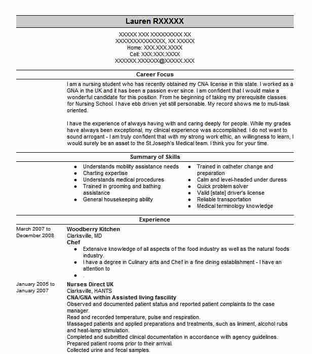Chef Resume Sample | Chef Resumes | LiveCareer