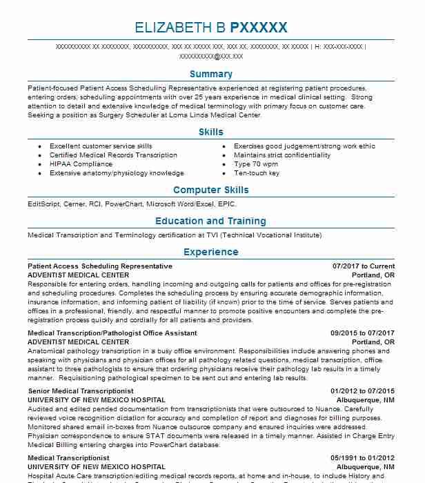Find Resume Examples In Portland, OR