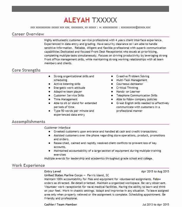 Eye-Grabbing Entry Level Resumes Samples | LiveCareer