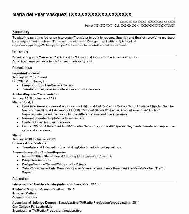 reporter producer - Court Reporter Resume Samples