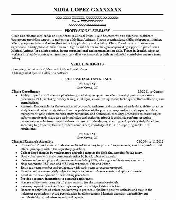 Clinic Coordinator Resume Example Center For Diagnostic