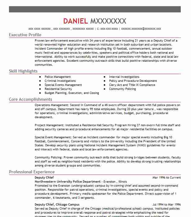 deputy chief resume example augusta fire department