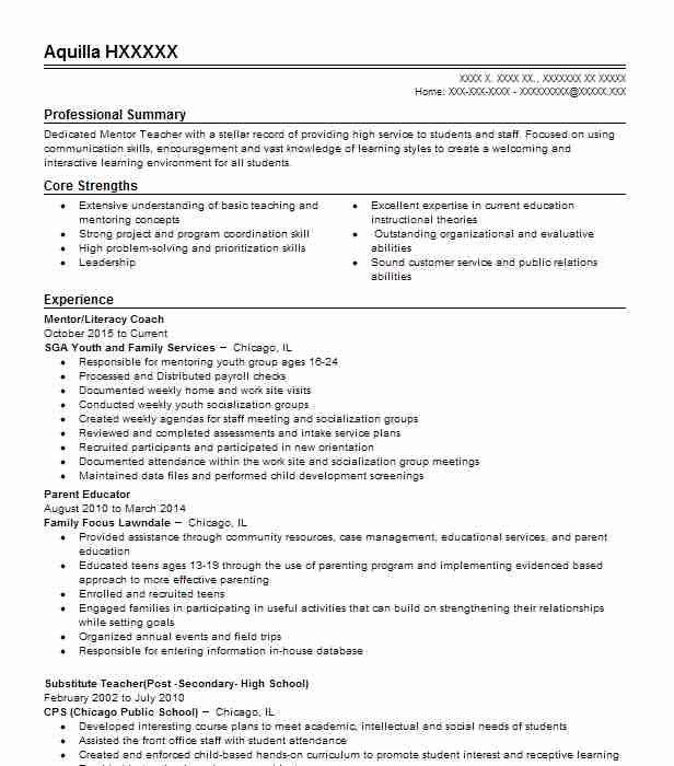 9210 Continuing Education Resume Examples | Education And Training ...