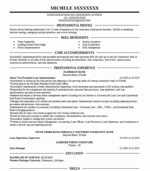Create My Resume  Mortgage Loan Processor Resume