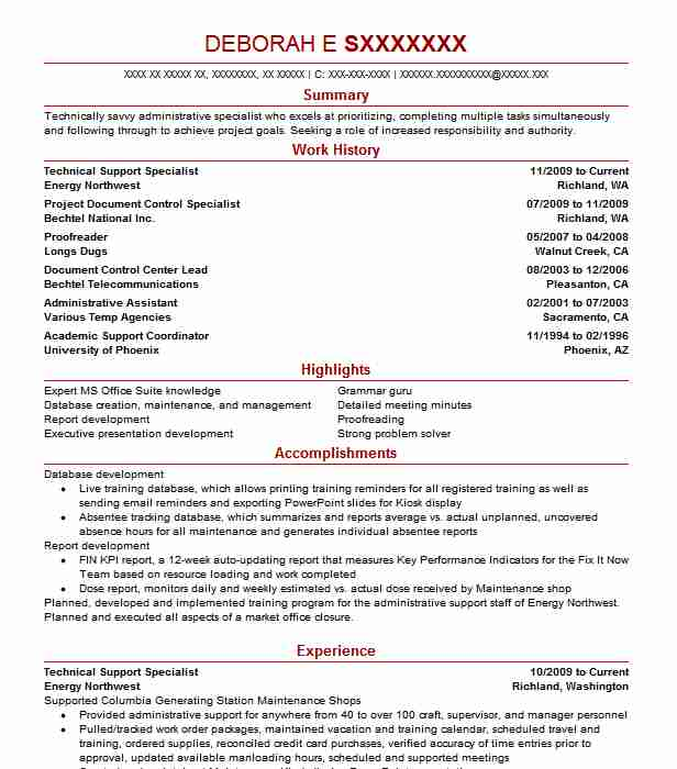 Technical Support Specialist Resume Sample Livecareer