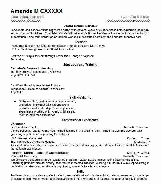 find resume examples in franklin  tn