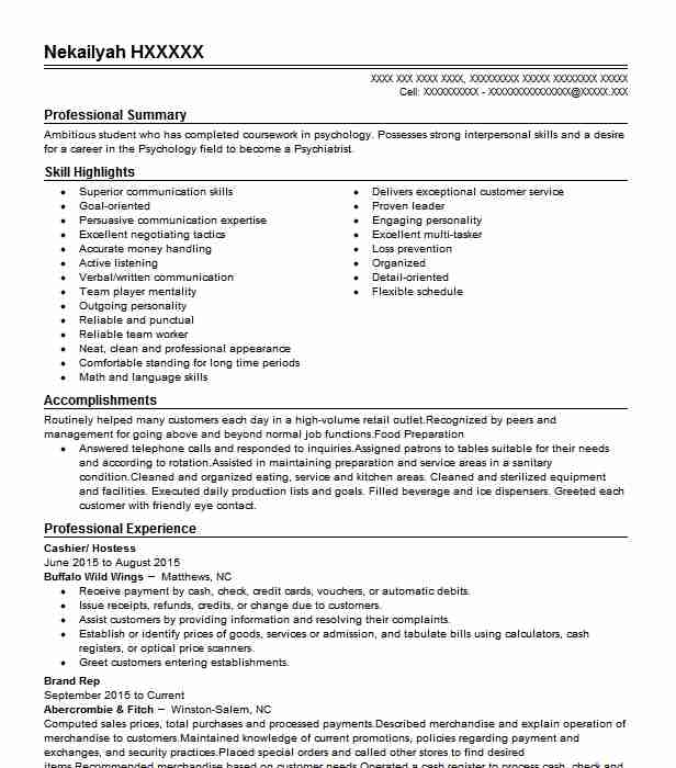 highschool stem intern research resume example seattle