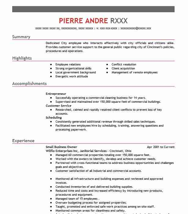 small business owner resume example inventive concepts