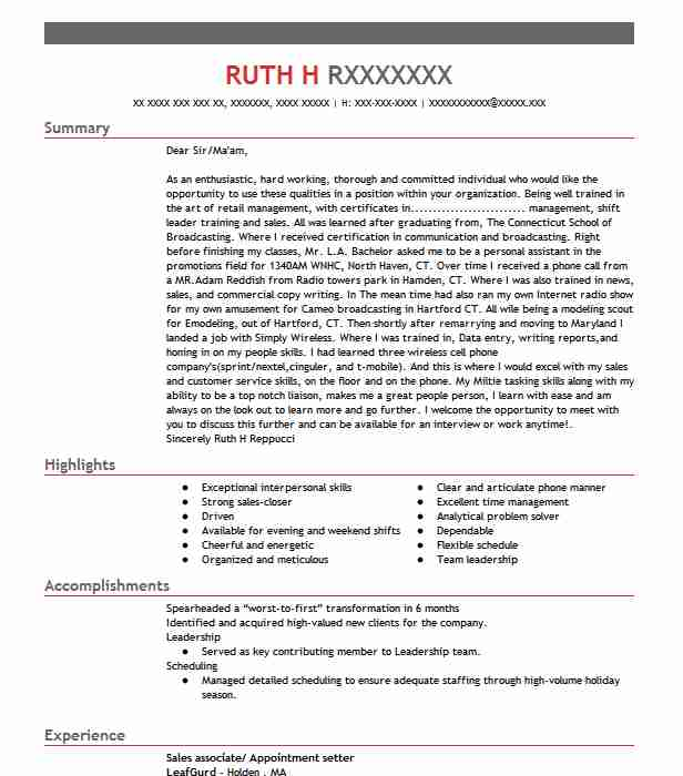 Find Resume Examples in Holland MA LiveCareer