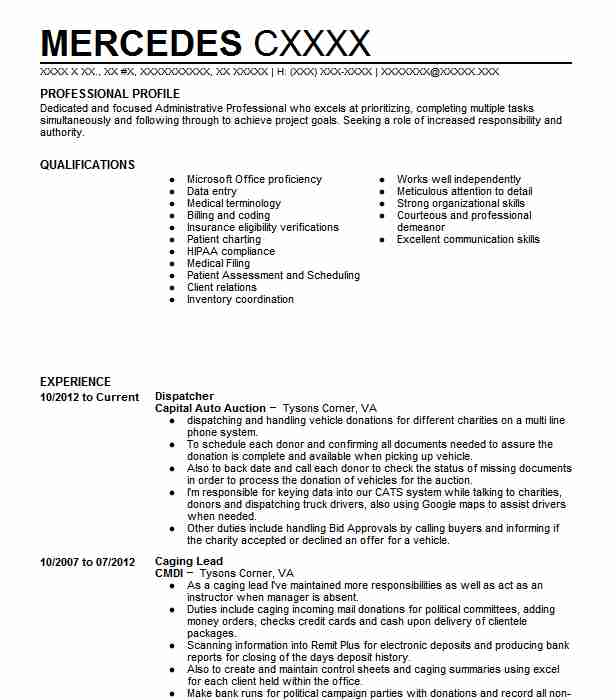 Dispatcher Resume Example Taxi And Limousine One Highland