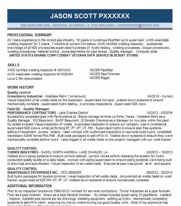Pipefitters Resume 1 Plumbers And Pipefitters Resume Examples In Oakdale La  Livecareer   Pipefitter Resume Sample  Pipefitter Resume