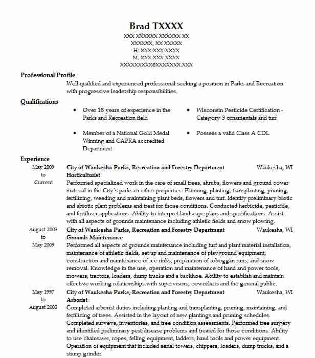 Horticulturist Resume Sample | Agriculture Resumes | LiveCareer
