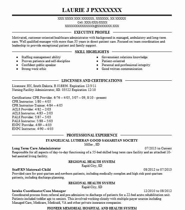 long term care social worker resume example southgate healthcare center