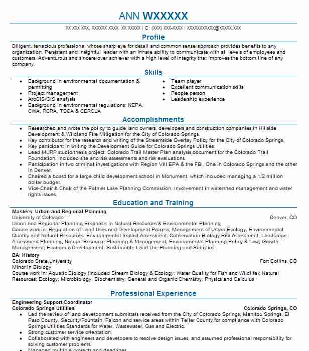 urban and regional planning resume examples architecture resumes