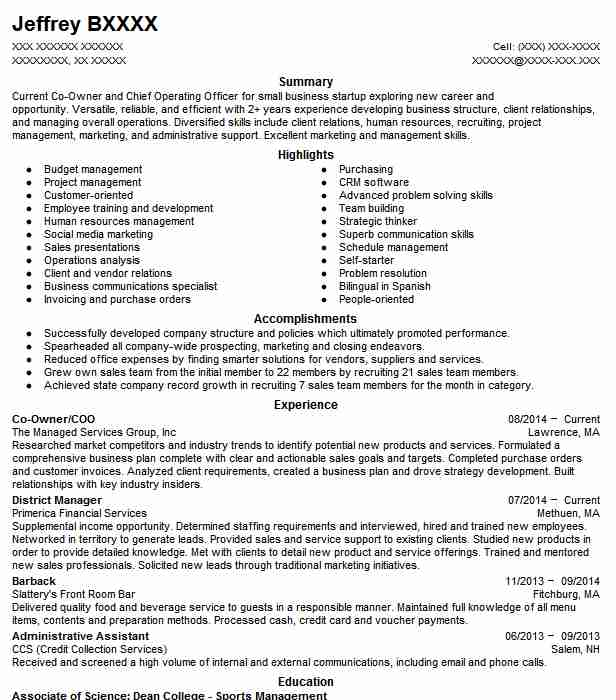 Contemporary Resume Business Startup Experience Adornment - Resume ...