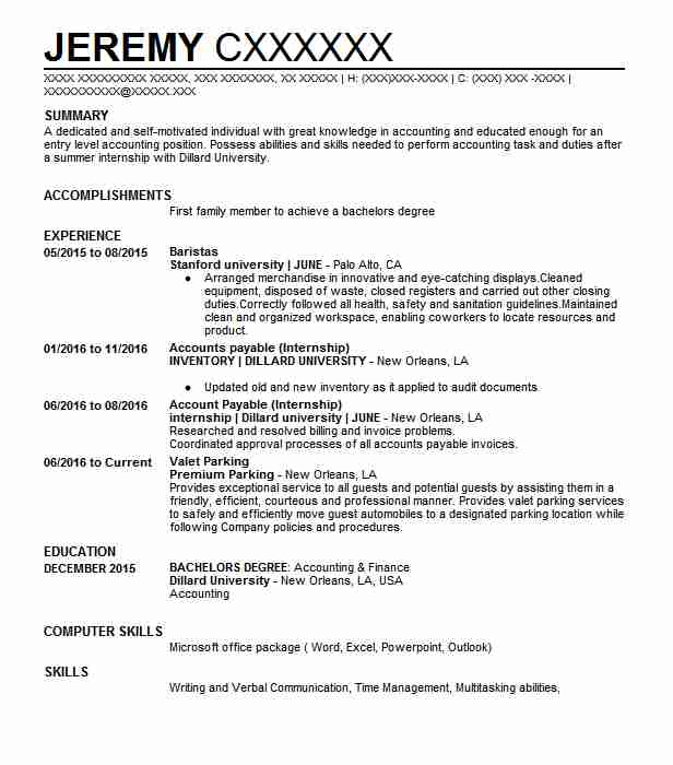 Entry Level Account Payable Clerk Resume Sample | LiveCareer