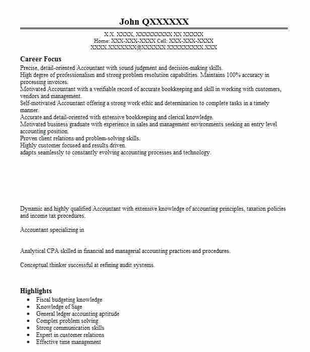 110 Accounts Payable/Receivable (Accounting And Finance) Resume ...