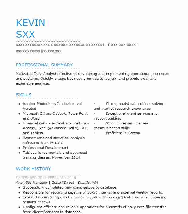 analytics manager resume sample manager resumes livecareer