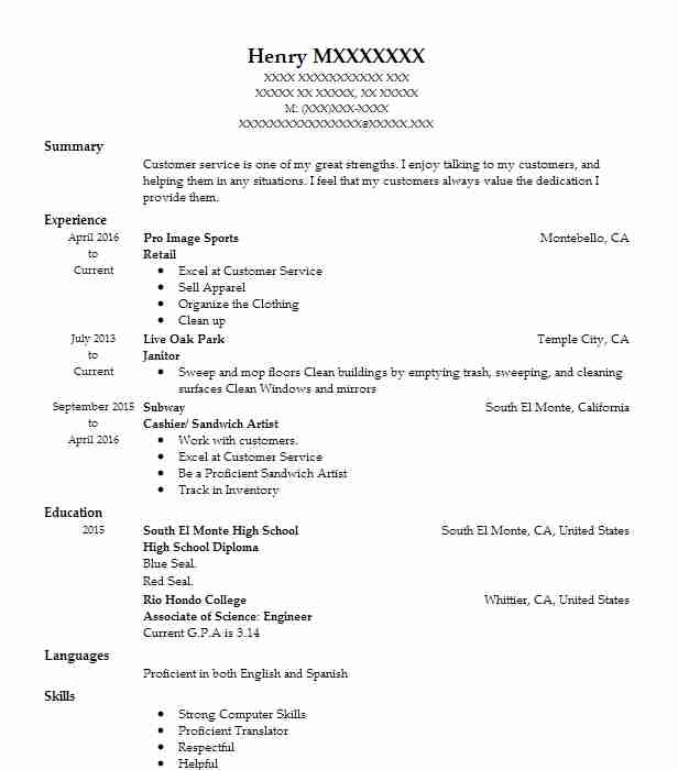 Eye Grabbing Retail Resume Samples