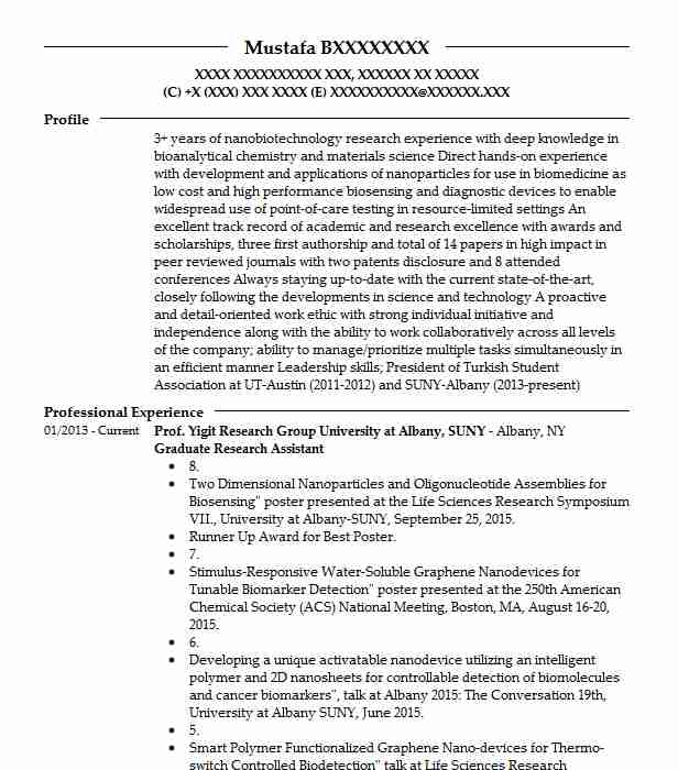 292 Nanotechnology Resume Examples | Science Resumes | LiveCareer
