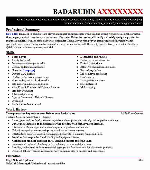 bms operator cum supervisor resume example absotherm
