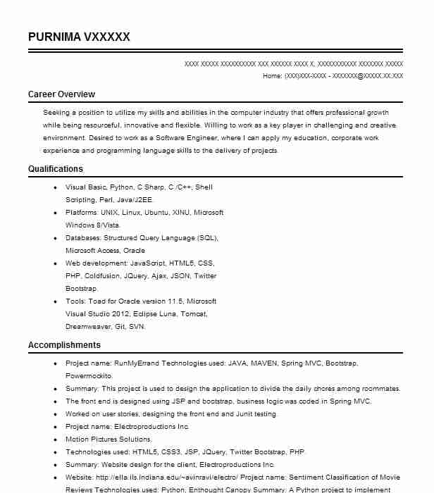 Intern Web Developer Resume Example Casper Baylor